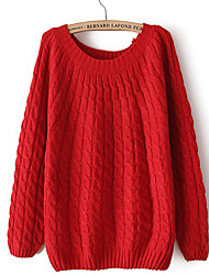 Women's Knitted Pullover Jumper Loose Sweater Knitwear