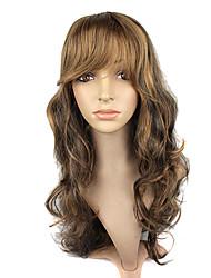 Парик волос высокого качества синтетического Kanekalon японца монолитным Синтетический длинные волнистые смешанных цветов