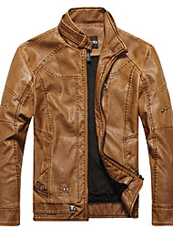 Men'S European Style Vintage Leather Jacket