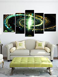 Натяжные Печать холст искусства абстрактные Зеленый Galaxy Набор из 5
