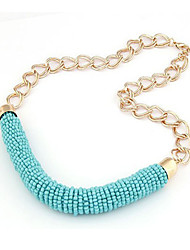 Women's Colorful Knit Necklace