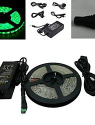 5M 300x5050 SMD Verde Fita LED e conector e AC110-240V para DC12V6A Transformer