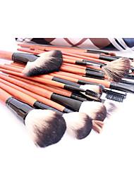 Pro haute qualité 36 PC naturel de cheveux de chèvre pinceau de maquillage avec treillis Conception de poche