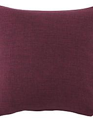 "18 ""Purple Solide Polyester Dekorative Kissenbezug"