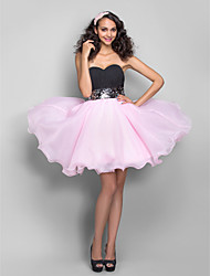 A-Line Princess Sweetheart Short / Mini Chiffon Organza Homecoming Prom Dress with Draping by TS Couture®