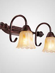 Cuarto de baño lámpara de pared, 2 Light, Pintura metal de la vendimia