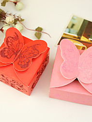 12 Piece/Set Favor Holder - Cuboid Card Paper Favor Boxes Butterfly Theme