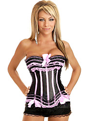Satin With Plastic Boning Corset Shapewear(More Colors) Sexy Lingerie Shaper