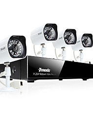 Zmodo® 4CH 720P Network Video Recorder PoE Security Surveillance System With 4 Day/Night HD IP Camera