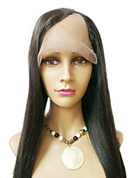 22inch Silky Straight Left Part Indian Remy Human hair U Part Wig
