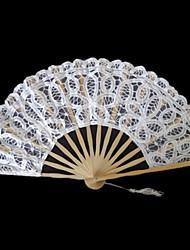 """Spitze Ventilatoren und Sonnenschirme Stück / Set Handfächer Blumen Thema Klassisches Thema Bänder11""""H,19 1/2""""Durchmesser (28cm hoch,50cm"""