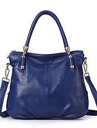 AFEM mode Plein cuir véritable de couleur d'emballage / sac à bandoulière (bleu)