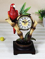 "11 ""H Loro Resina Reloj de sobremesa"
