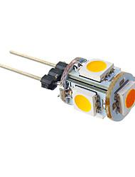 1W G4 Bombillas LED de Mazorca T 5 SMD 5050 70 lm Blanco Cálido DC 12 V