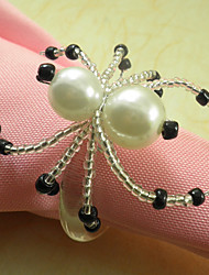 Spider Acrylic Beads Napkin Ring, Dia 4.2-4.5cm Set of 12