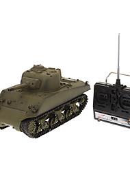 Tanque HL M4A3 1:16 RC Car Verde Pronto a usar Tanque / Controle Remoto/Transmissor / Bateria Para Carro / Manual do Usuário