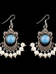 Orecchino Per donna Orecchini pendenti Lega Zaffiro/Perle