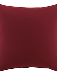 "18"" Squard China Red solid Polyester Decorative Pillow Cover"