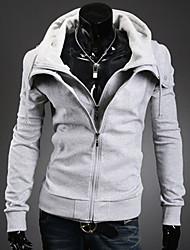 Gli uomini di stile della Corea con cappuccio, due pezzi Come Outwear