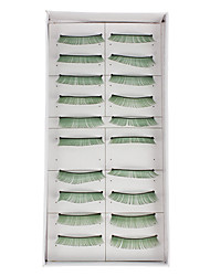 10Pcs False Eyelashes(Green)