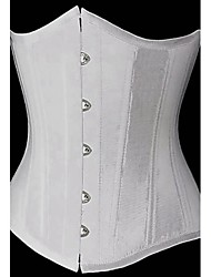 Women's Sexy Court Style Button Strapless Corset