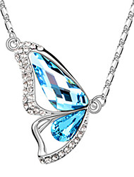 Xingzi Women'S Butterdly Shape  Crystal 40Cm Necklace 6500