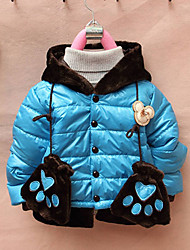 Girl's Down & Cotton Padded,Solid Winter