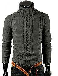 DJJM Irregular recreational turtle neck turtleneck(Dark Gray)
