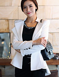 BZQ Elegant Fitted White Dovetail Suit Jacket