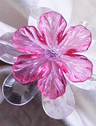 Daisy anneau de serviette avec des couleurs multi, jeu de 12, perles acryliques Dia3.5cm