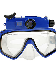 5.0 MP HD 720P Micro SD impermeabili Occhiali Diving Mask fotocamera digitale con 5.0MP Sensore CMOS Schermo LCD-Blue