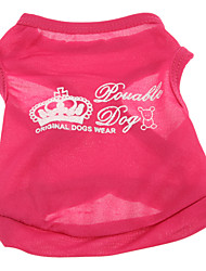 Cute Lovable Dog Crown Pattern Vest for Pets Dogs (Assorted Sizes)