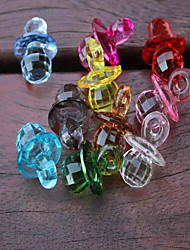 Acrylic Pacifier Baby Shower Favors Party Decorations - Set of 25 (Random Color)