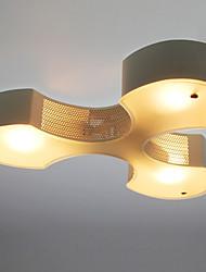 Clover Design Chandelier, 3 Light, Modern Iron Glass Painting
