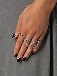 European Style Chain Tassels Mitten Ring