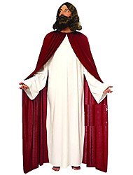 Jesus White & Red Polyester Men's Christmas Costume