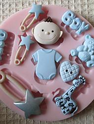Chico 3d molde herramientas artesanales moldes fondant molde de silicona juguete del bebé de azúcar de chocolate para tortas