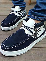 Estilo británico Zapatos del modelo de tendencia del punto para hombres (azul)