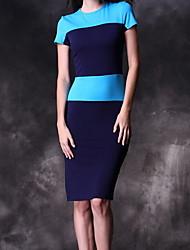 Light Meiyishen femmes robe bleue commune de Split