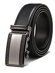 Makko Hombres Belt_Mfw031Mcb Cuero Hebilla automática