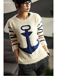 Women's Anchor Print Sweater