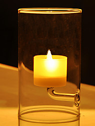 "6""Modern Style Simple Glass Candle Holder"