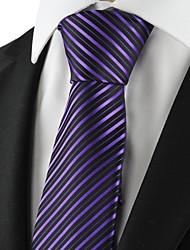 Mariage rayé pourpre cravate des hommes de parti cravate Souvenirs