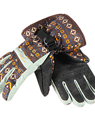 CNHIMALAYA Waterproof Coffee Ski Gloves