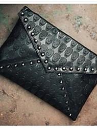 Rivet  Skull Envelope Bag Women Handbag