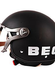b100-2 модно старинных Harley стиль абс материал мотогонок половина шлем (опционные цветы)