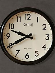 """14.25 """"H style moderne Horloge murale en métal"""