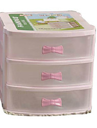 Fashion 3 Layers Solid Color Storage Cabinet - 2 Colors Avaliable