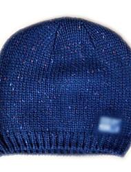 Mode Beanie Knited Cap Keep Warm acrylique souple de chapeau d'hiver et Taille unique Bleu avec Icône