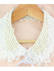Vrouwen Lace Floral Pearls Collar